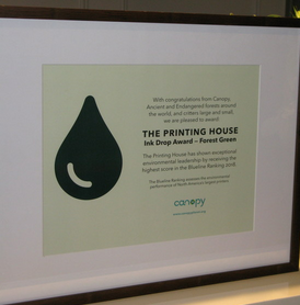 Award for Most Forest- Friendly Printer in North America
